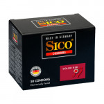 Sico Color Kondome, rot mit Erdbeergeschmack - 50 Condoms