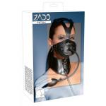 ZADO - Leder Kopfmaske und Knebel