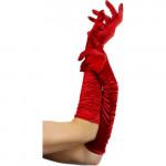 Die Handschuhe von Fever sind lang und reichen bis zum Ellenbogen. Sie fühlen sich weich an und sind