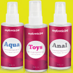 """Drei Freunde"" - Gleitgel + Toy-Reiniger-Set powered by myErotic24.com"