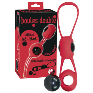 Boules Double red/black