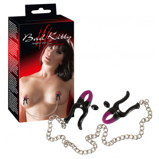 Bad Kitty Silikon Nippelklemmen mit Kette