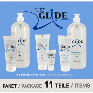 JustGlide - 11 Teile Paket (Anal, Toys, Wasserbasiert)