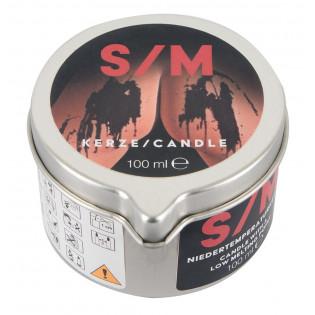 S/M Kerze schwarz Tiegel 100ml