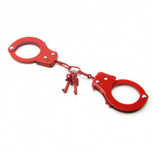 Metall-Handschellen Rot