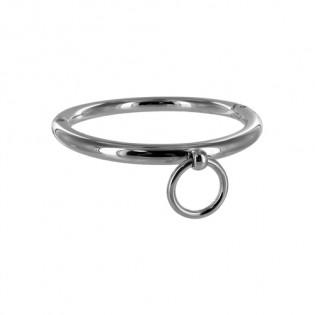 Halsband aus Stahl mit Ring