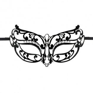 EasyToys - Durchbrochene Maske aus Metall in Schwarz