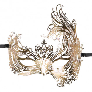 EasyToys - Durchbrochene venezianische Maske in Gold