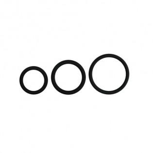 Cockring-Set mit drei verschiedenen Ringgrößen - Schwarz