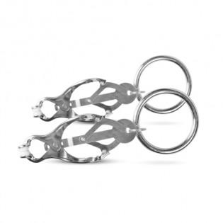 Japanische Kleeklammern mit Ring