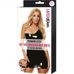 Schulterfreies Minikleid aus Premiumlatex