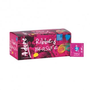 Adore Pleasure Kondome mit Riffeln 144 Stück