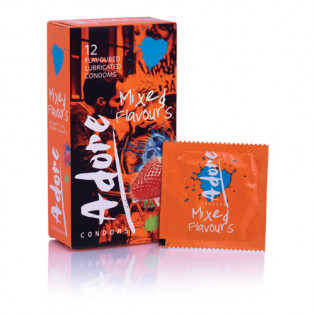 Adore Kondome mit Geschmack - 12 Kondome